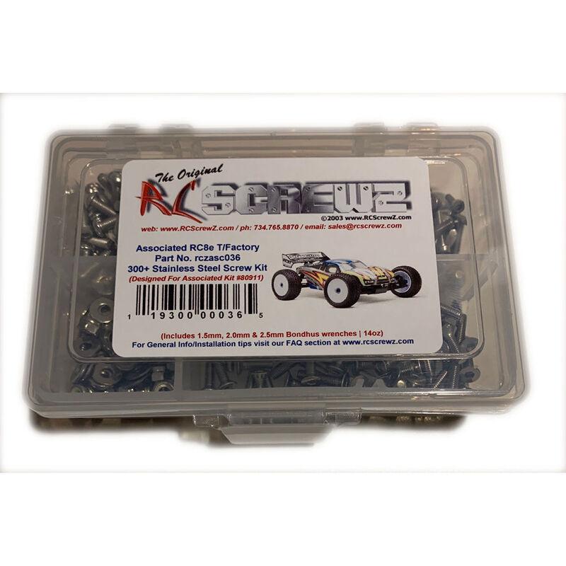 Stainless Steel Screw Set: Team Associated RC8Te Electric