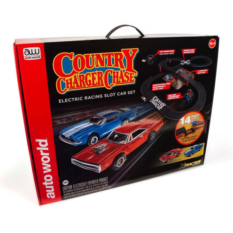 14' County Charger Chase Slot Race Set