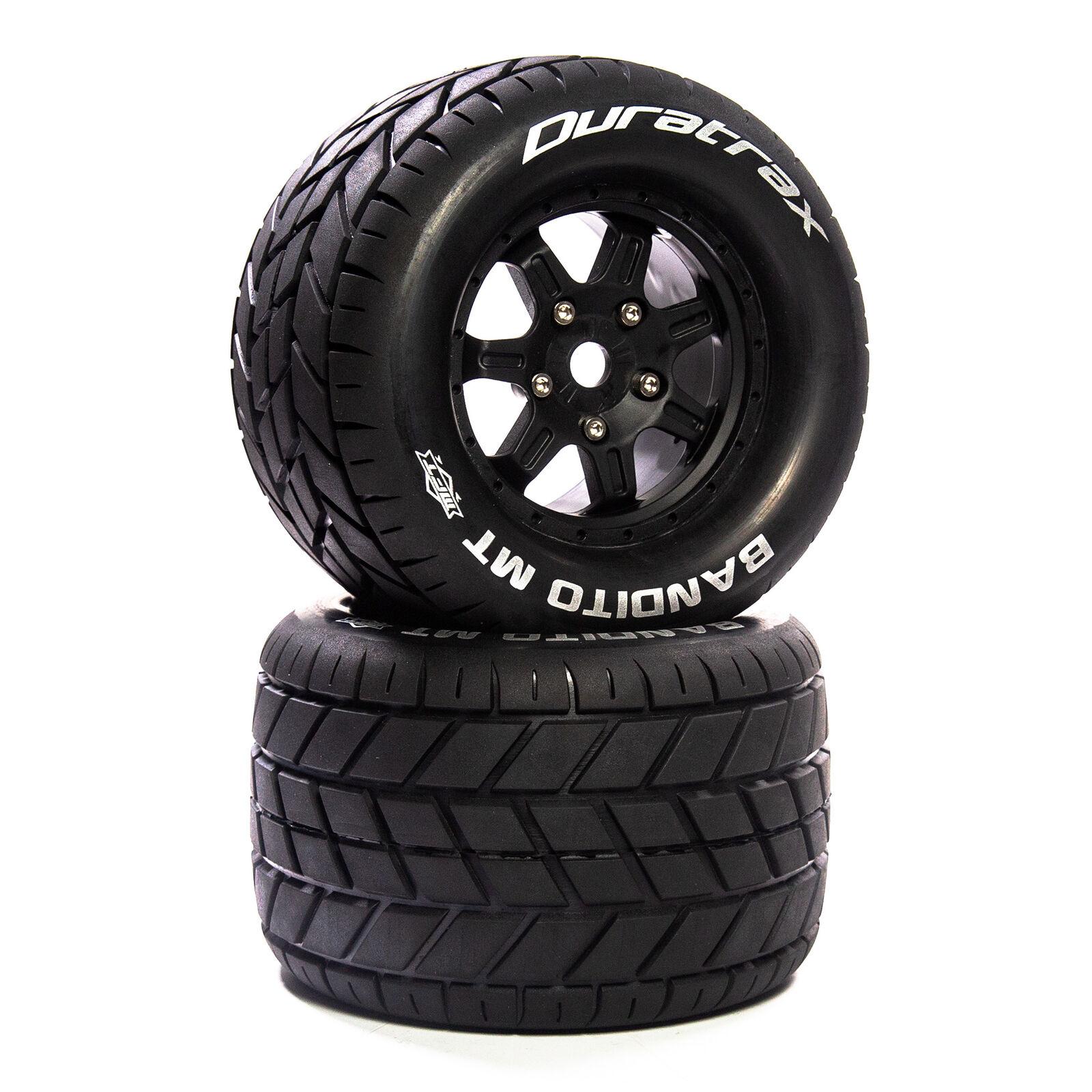 """Bandito MT Belt 3.8"""" Mounted Front/Rear Tires 0 Offset 17mm, Black (2)"""