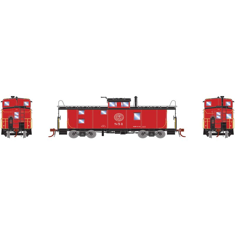 HO ICC Caboose with Lights P&WV #851