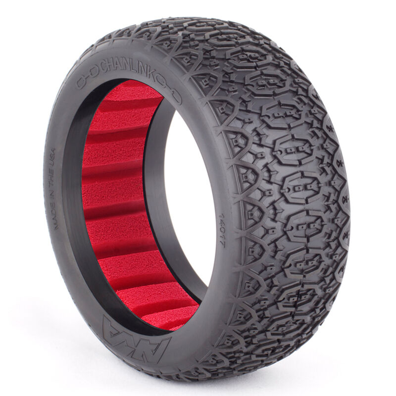 1/8 Chainlink Super Soft Front/Rear Tire with Red Inserts: Buggy (2)