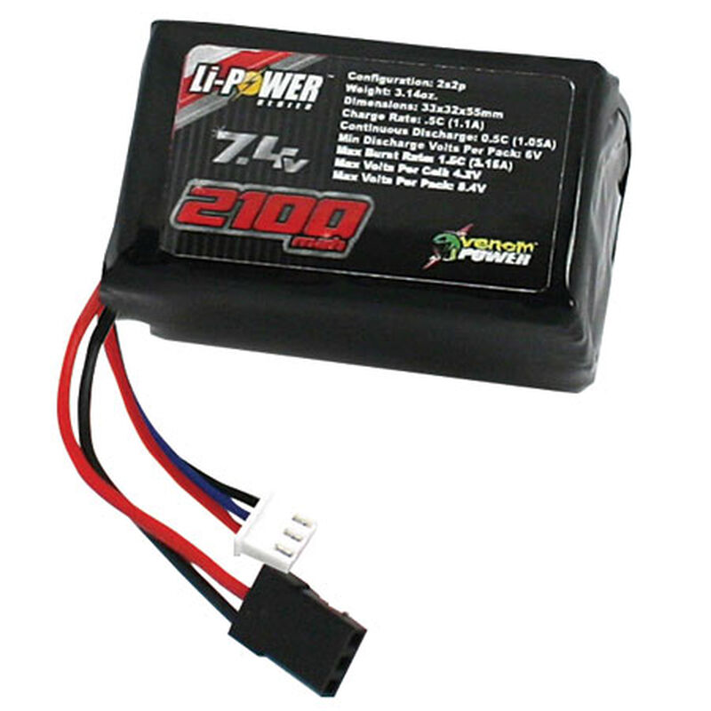 7.4 V 2100mAh 2S DRIVE LiPo Hump Receiver Battery: Universal Receiver