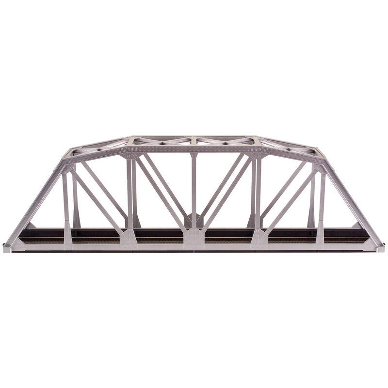 "HO KIT Code 100 18"" Through Truss Bridge, Silver"