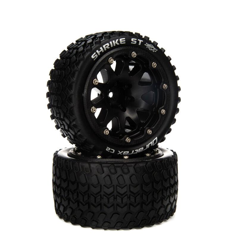 """Binder ST Belted 2.8"""" Mounted Front/Rear Tires, 14mm Black (2)"""