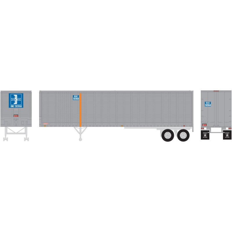 HO RTR 40' Fruehauf Z-Van Trailer B&M #202056