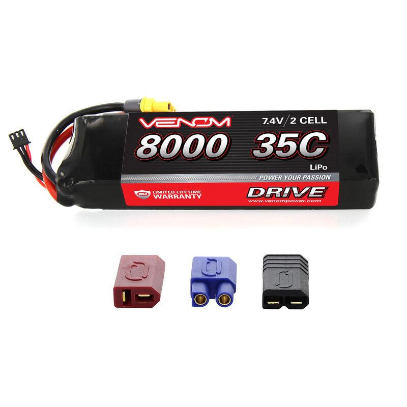 7.4V 8000mAh 2S 35C DRIVE LiPo Battery: UNI 2.0 Plug