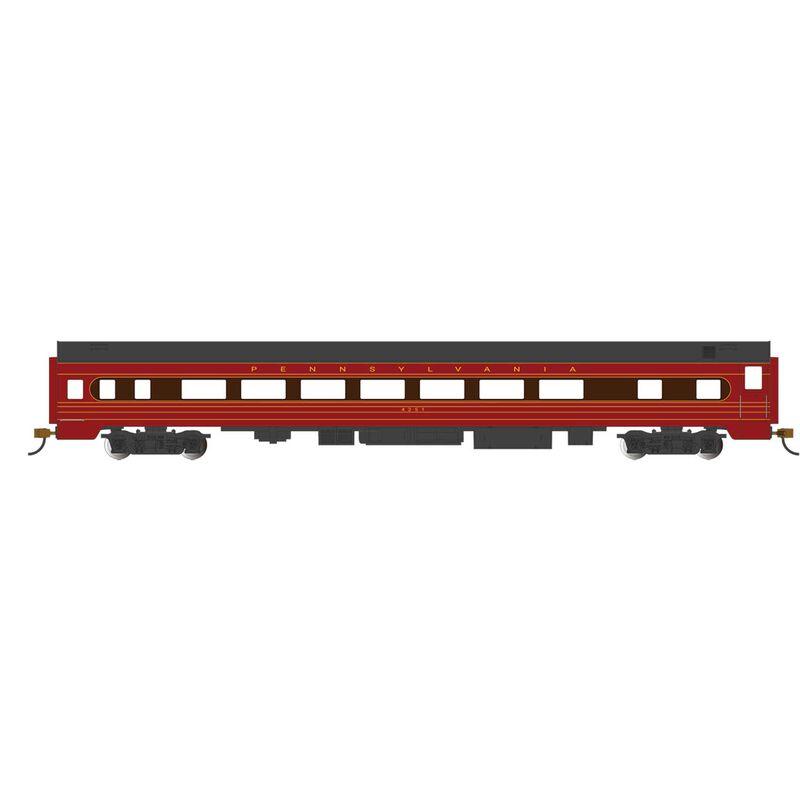HO 85' SS Coach with Light, PRR #4251-Fleet Modernism