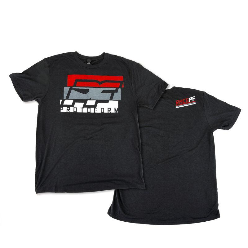 PF Slice Black Tri-Blend T-Shirt, Large