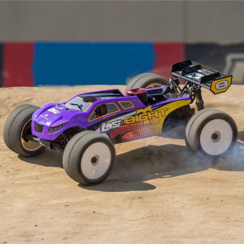 1/8 8IGHT-T 4WD Truggy Nitro RTR, Purple/Yellow