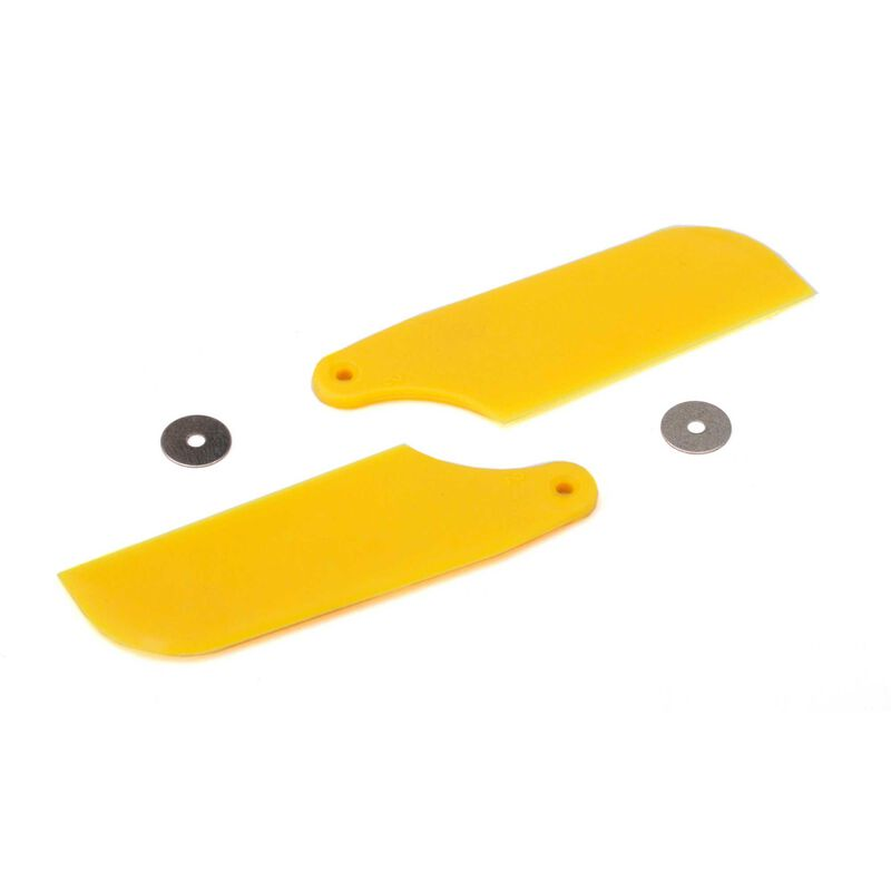 Tail Rotor Blade Set, Yellow: B450 3D, B400, B450 X