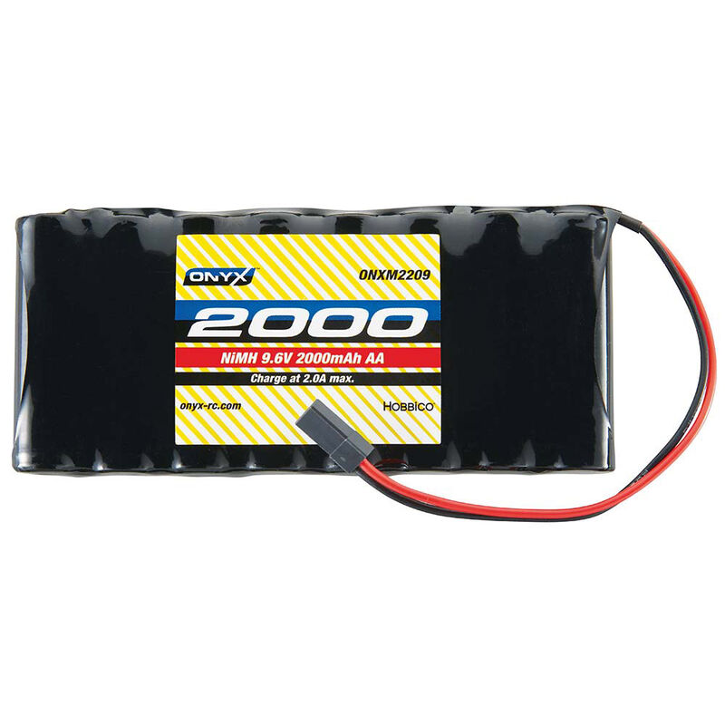 9.6V 2000mAh AA NiMH Flat Transmitter Battery: Universal Receiver