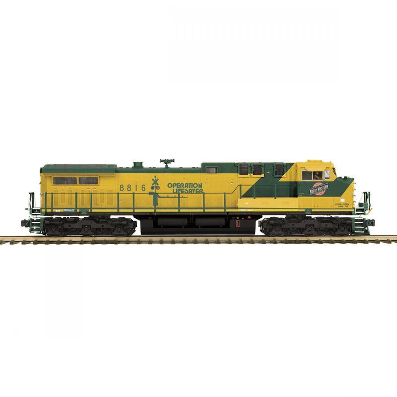 O-27 AC4400cw with PS3 Hi-Rail C&NW #886