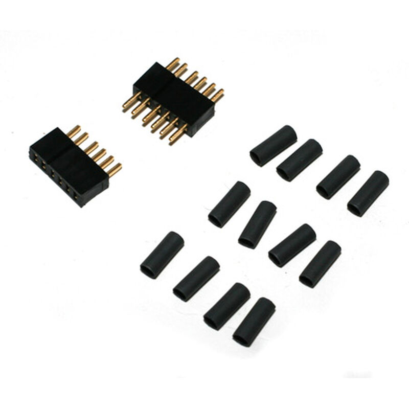 Connector: 6 Pin Set with Shrink Tubing