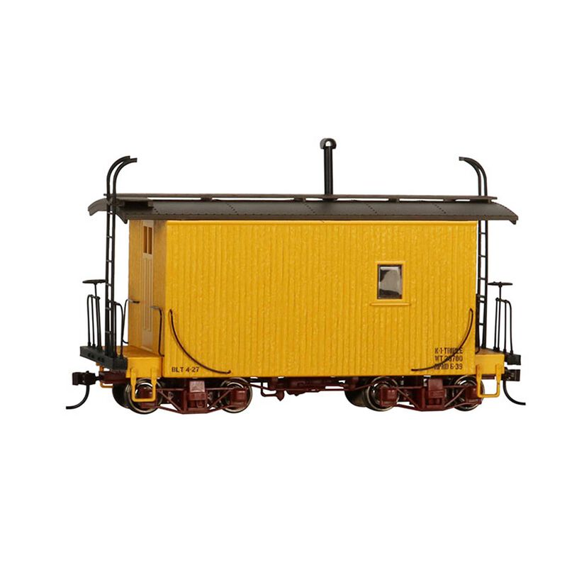 On30 18' Logging Caboose Yellow Data Only