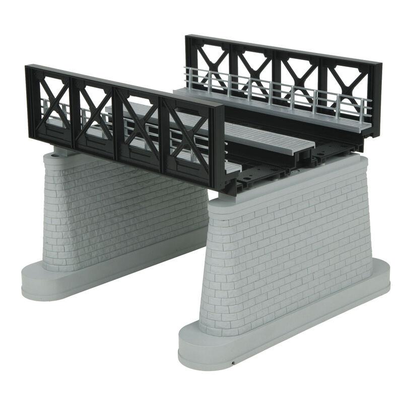 O 2-Track Girder Bridge, Black