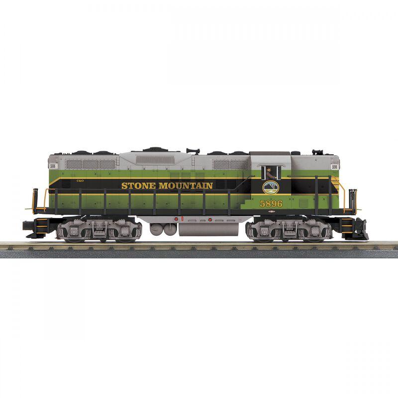 O-27 GP7 with PS3 Stone Mountain Railroad #5896