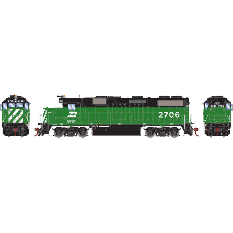 HO GP39-2 with DCC & Sound BN #2706