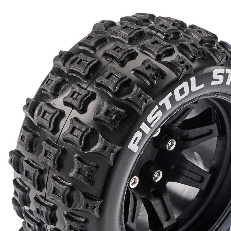 Pistol ST 2.8 Mounted Tires, Black 14mm Hex (2)
