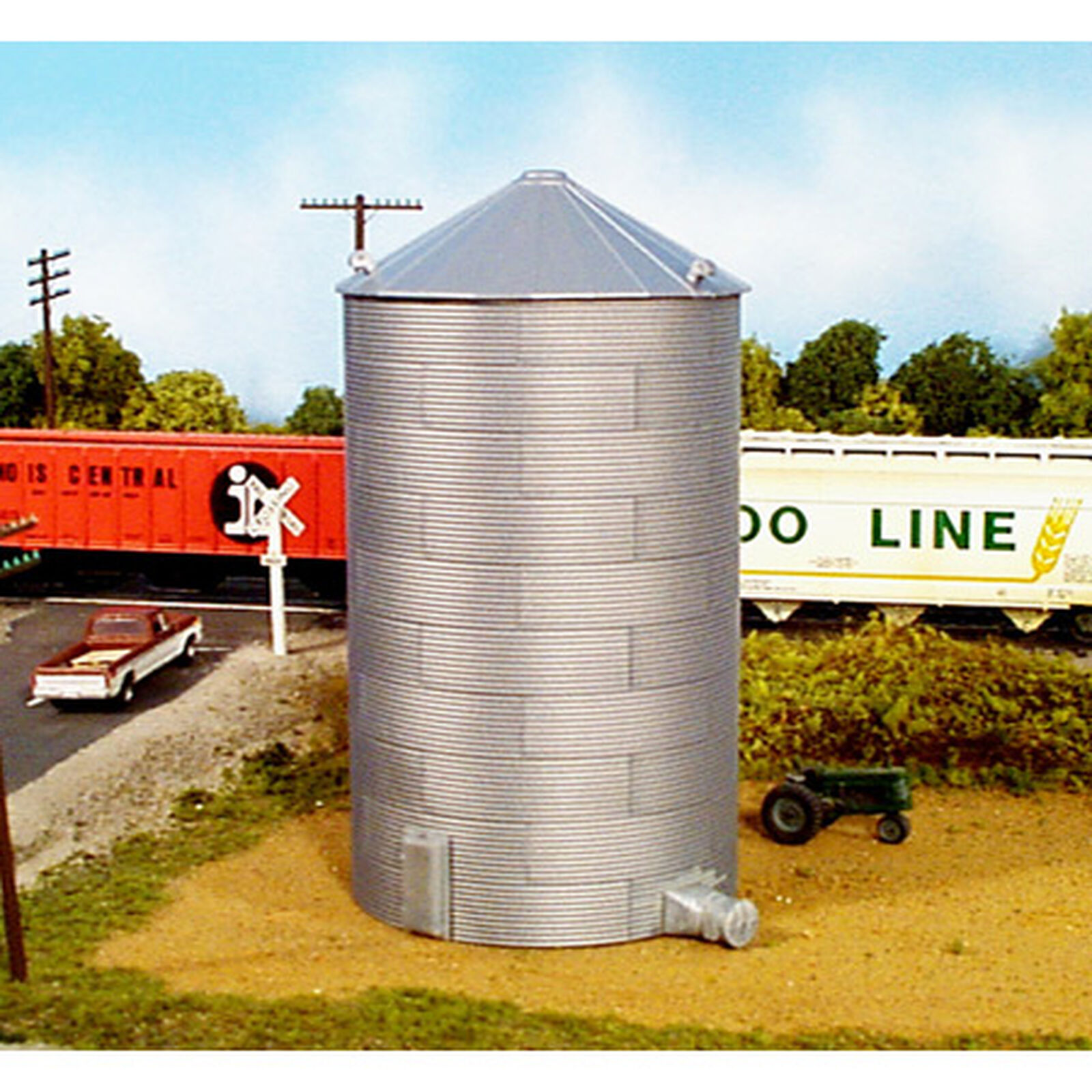 HO KIT 40' Corrugated Grain Bin