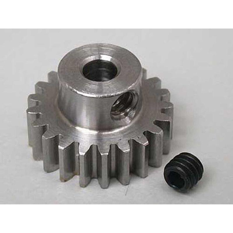 """Steel Alloy Motor Pinion Gear 1/8""""/.6 Mod, 21T"""