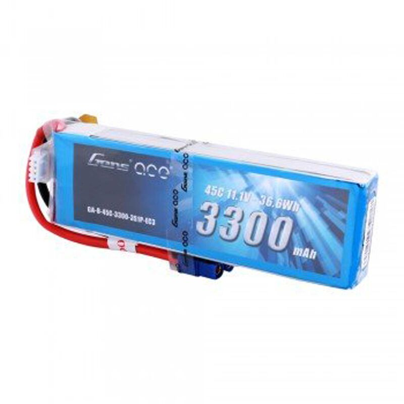 11.1V 3300 Capacity 3S Voltage 45C LiPo, EC3