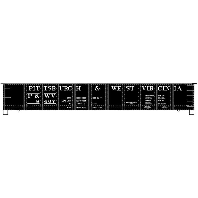 HO KIT 41' Steel Gondola P&WV (3)