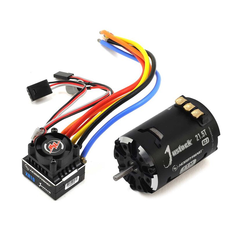 XR10 Justock ESC/Fixed Timing Motor Combo, 21.5, Black/Silver