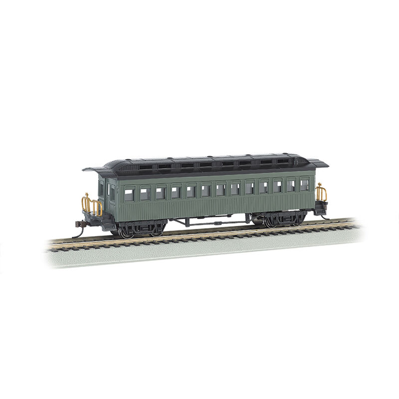 HO 1860-1880 Coach Undecorated Green