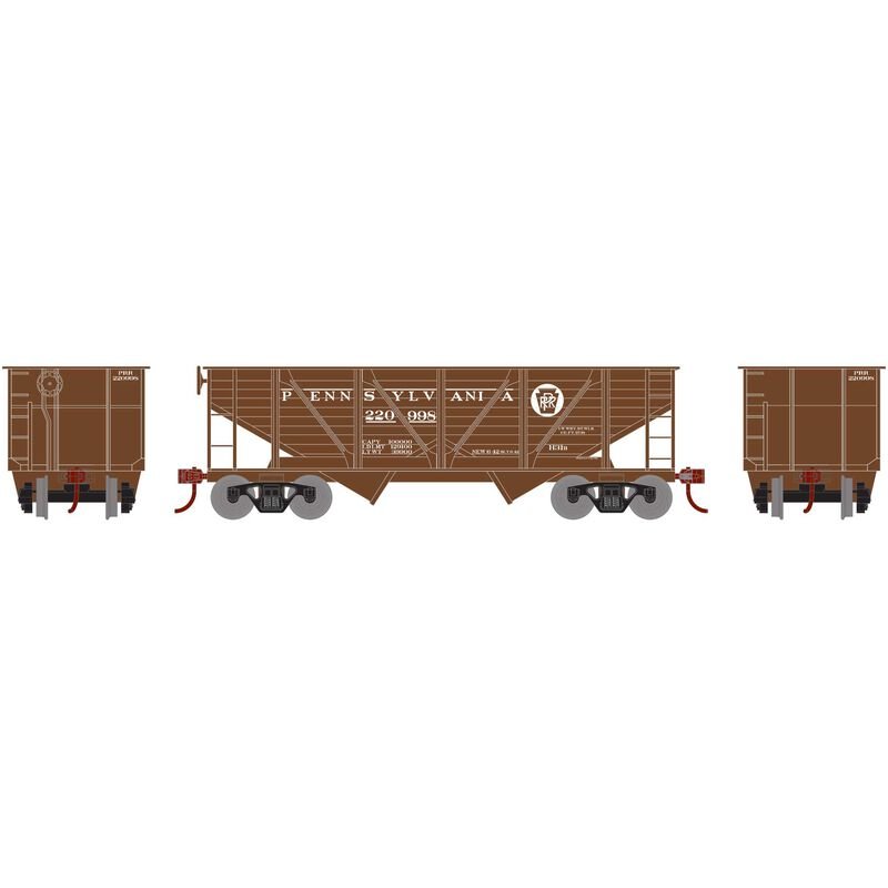 HO 34' 2-Bay Hopper with Coal Ld PRR War Bond #220998