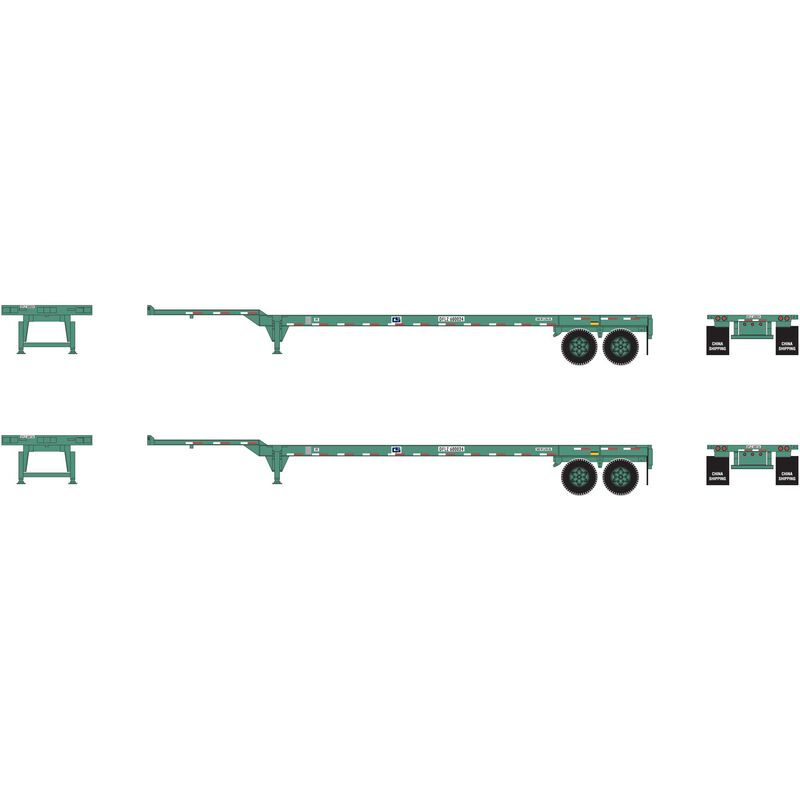HO RTR 45' Container Chassis China Shipping (2)