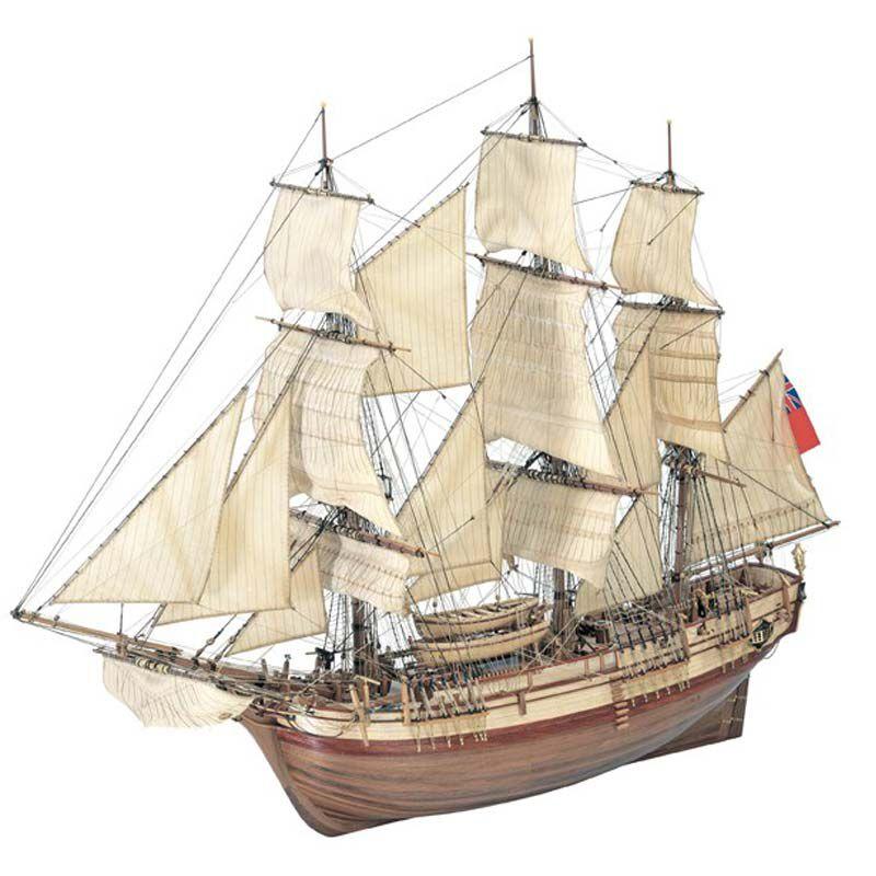 1/48 Bounty Wooden Model Ship Kit