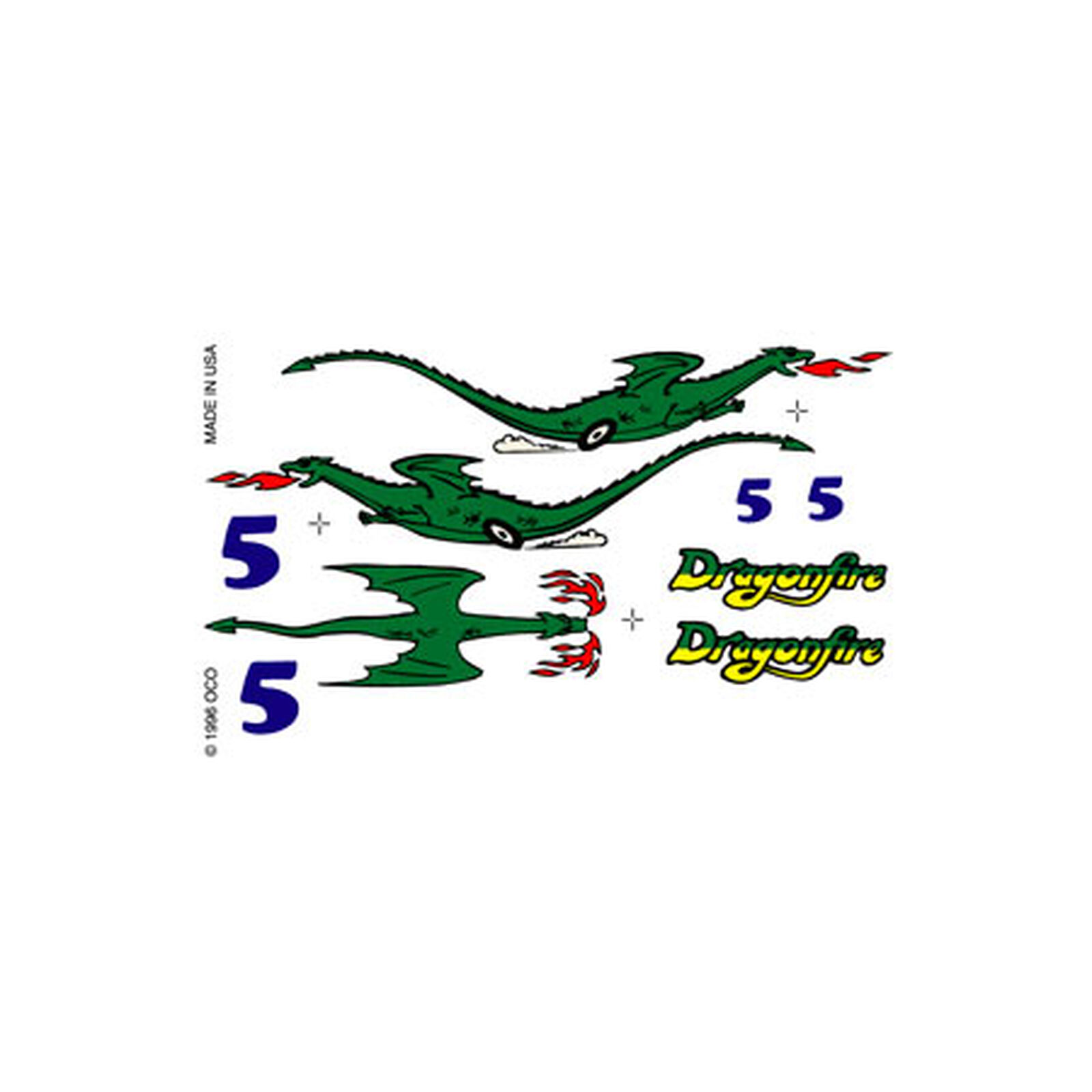 Dry Transfer Decals, Dragonfire