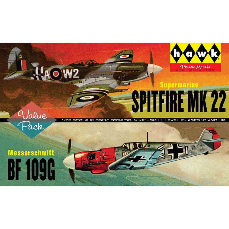 Spitfire ME109 - 2 Pack