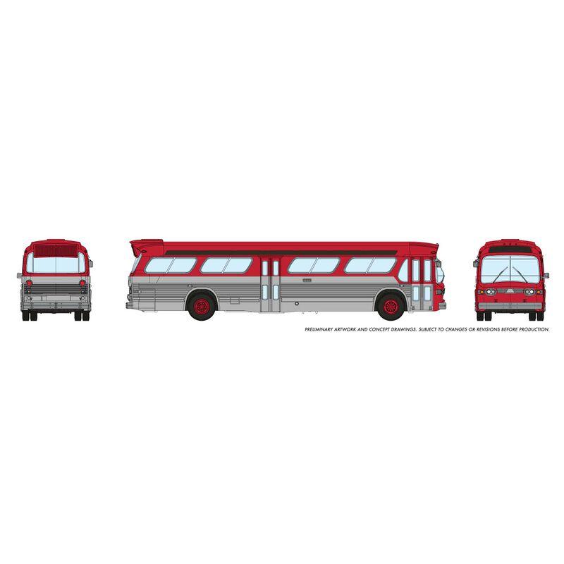 N 1/160 New Look Bus - Generic Red