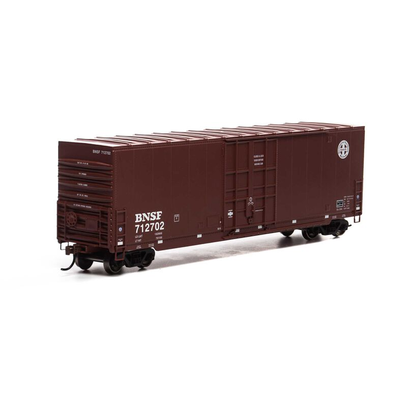 HO 50' Smooth HC Plug Box, BNSF/Round Logo #712702