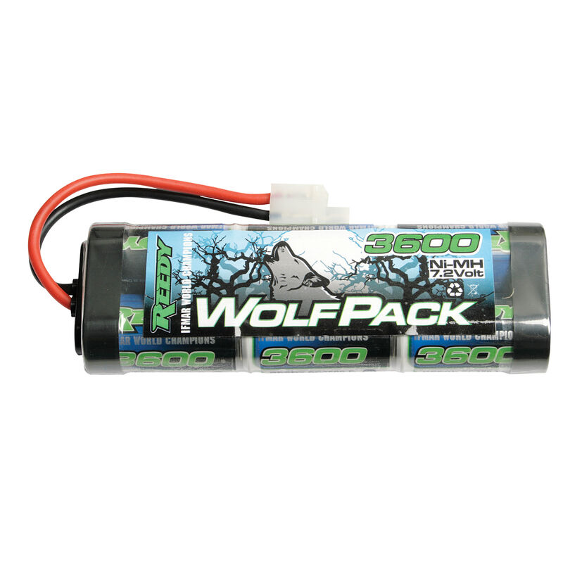 7.2V 3600mAh 6-Cell Wolfpack Stick NiMH Battery: Tamiya Plug