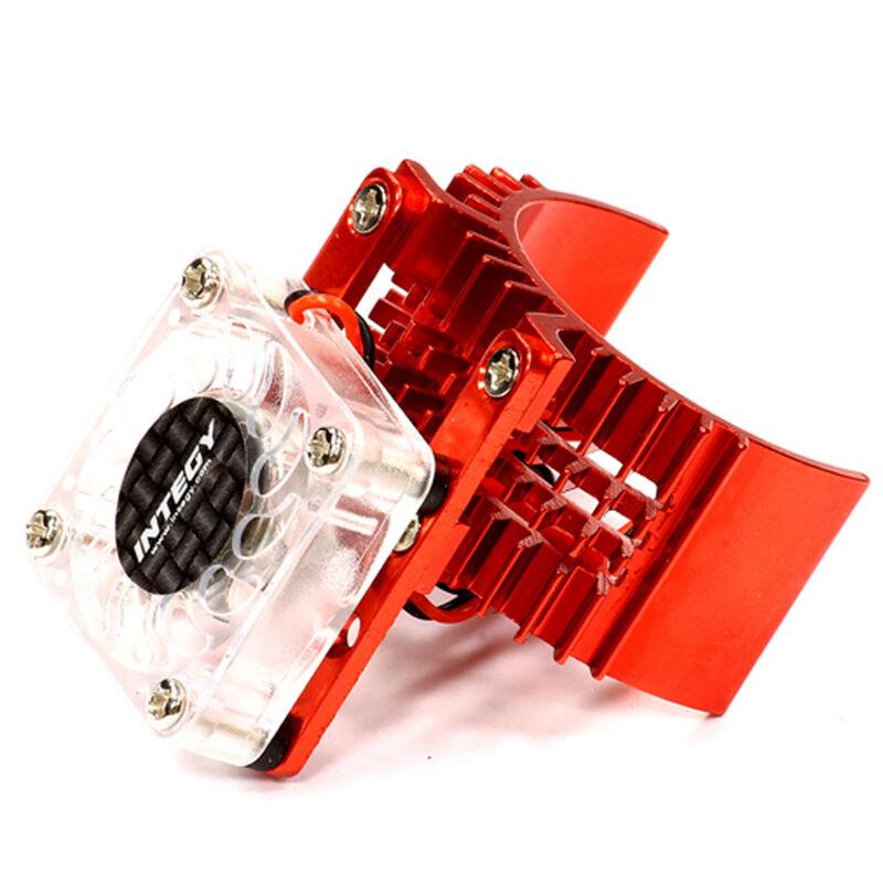 Motor Heatsink with Cooling Fan, Red: SLH, ST, RU