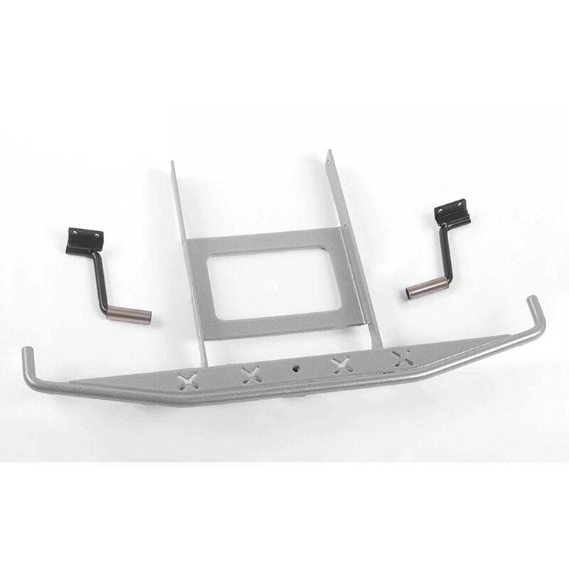 Metal Rear Bumper with Exhaust Tips: SCX10 II Blazer Silver