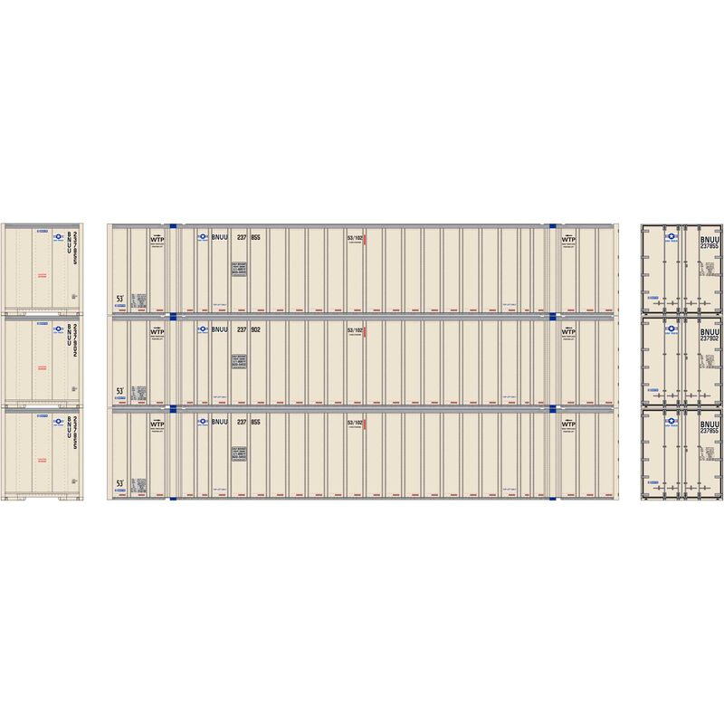 HO RTR 53' Stoughton Container, USA Truck (3)