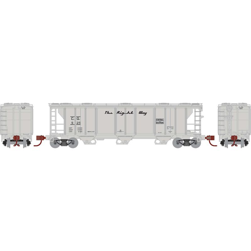 N PS-2 2893 3-Bay Covered Hopper, C of G #925
