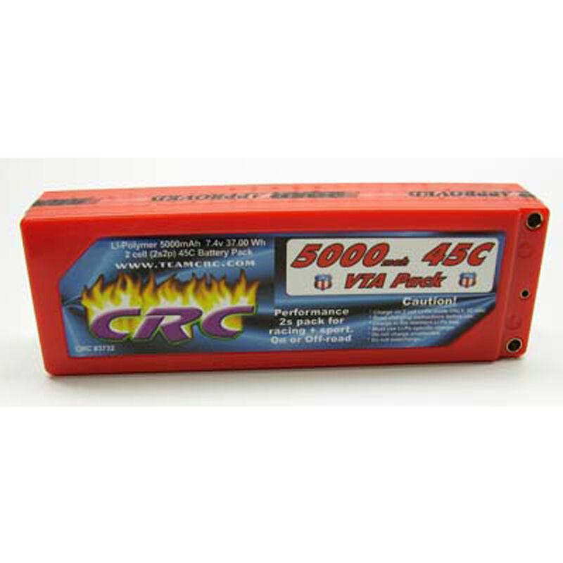 7.4V 5000mAh 2S 45C VTA Hardcase LiPo Battery: Tubes