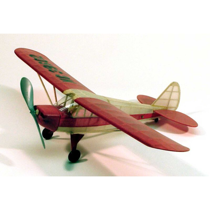 Piper J4-E Cub Coupe Rubber Powered Kit, 17.5""