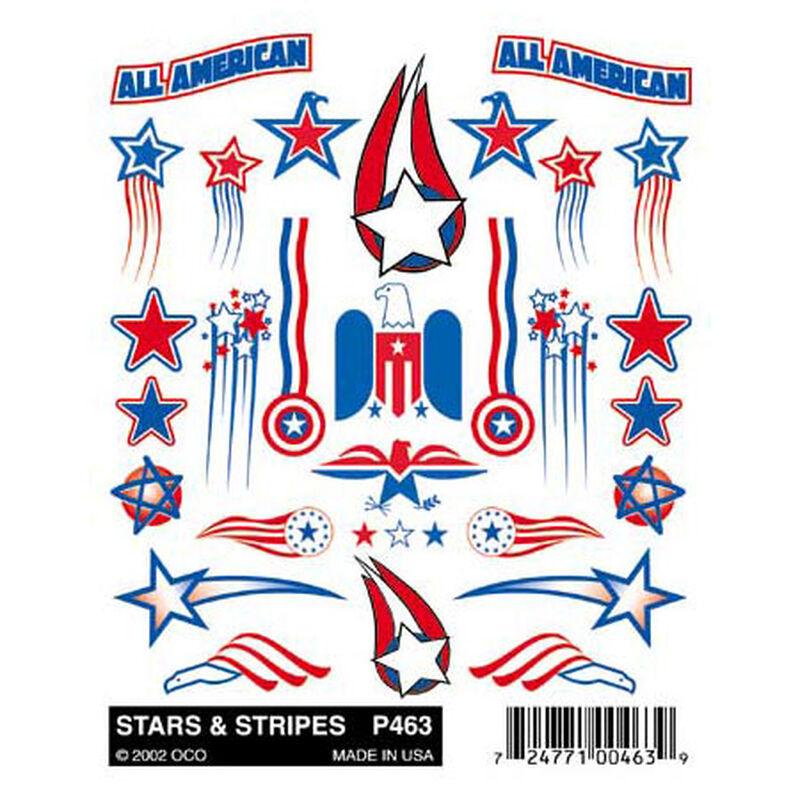 Stick-On Decals, Stars & Stripes