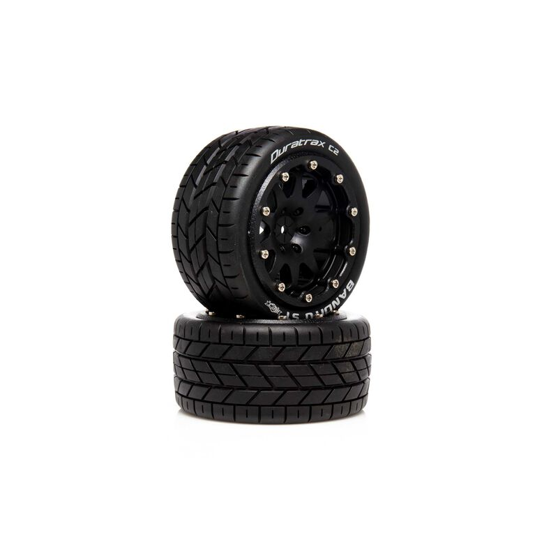 """Bandito ST Belted 2.8"""" 2WD Mounted Rear Tires, 0 Offset, Black (2)"""