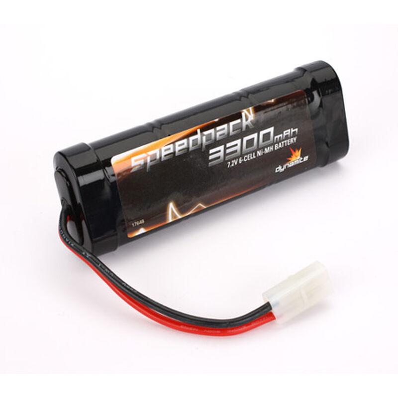 7.2V 3300mAh 6-Cell Speedpack Flat NiMH Battery: Tamiya Connector