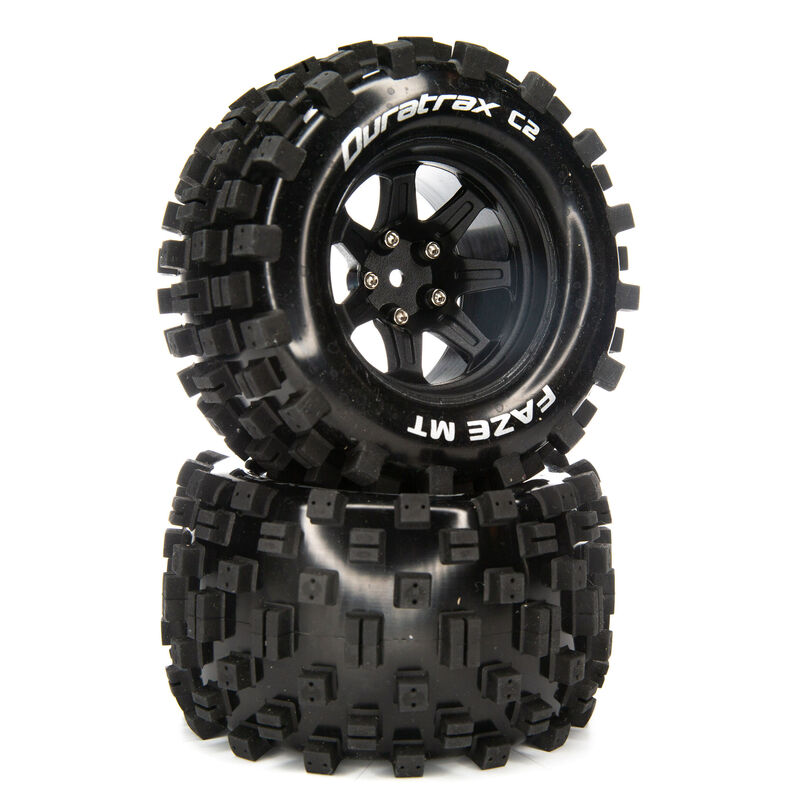FAZE MT 2.8 Mounted F/R Tires, C2 14mm Black (2)