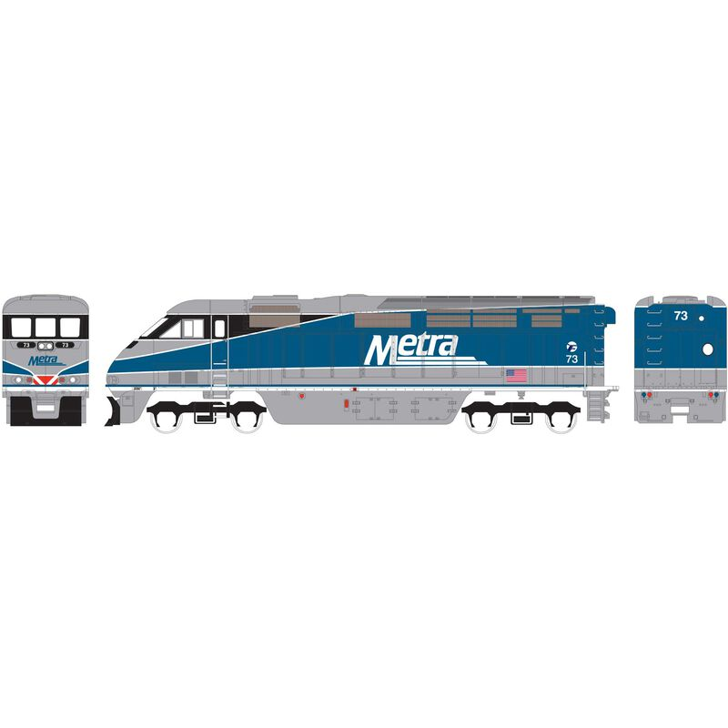HO RTR F59PHI with DCC & Sound METX #73