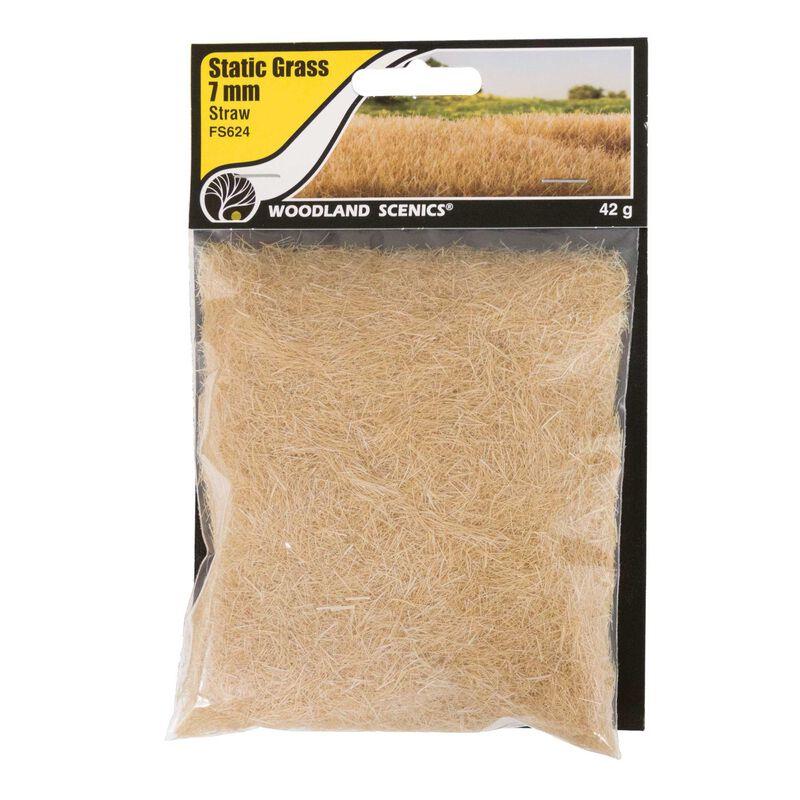 Static Grass Straw Green 7mm