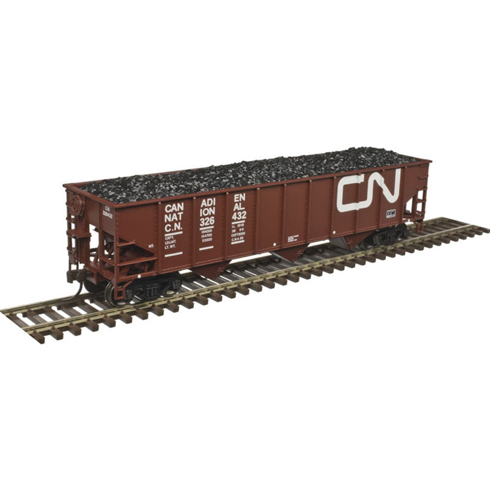 HO Trainman 70-Ton 9-Panel Hopper CN #326432