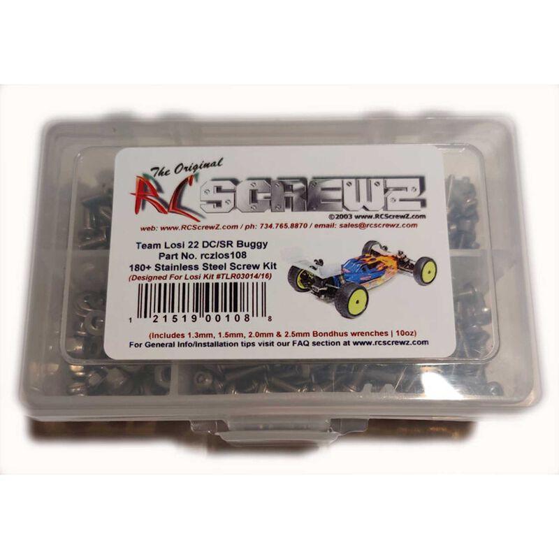 Stainless Screw Kit: Losi 22 DC SR Buggy